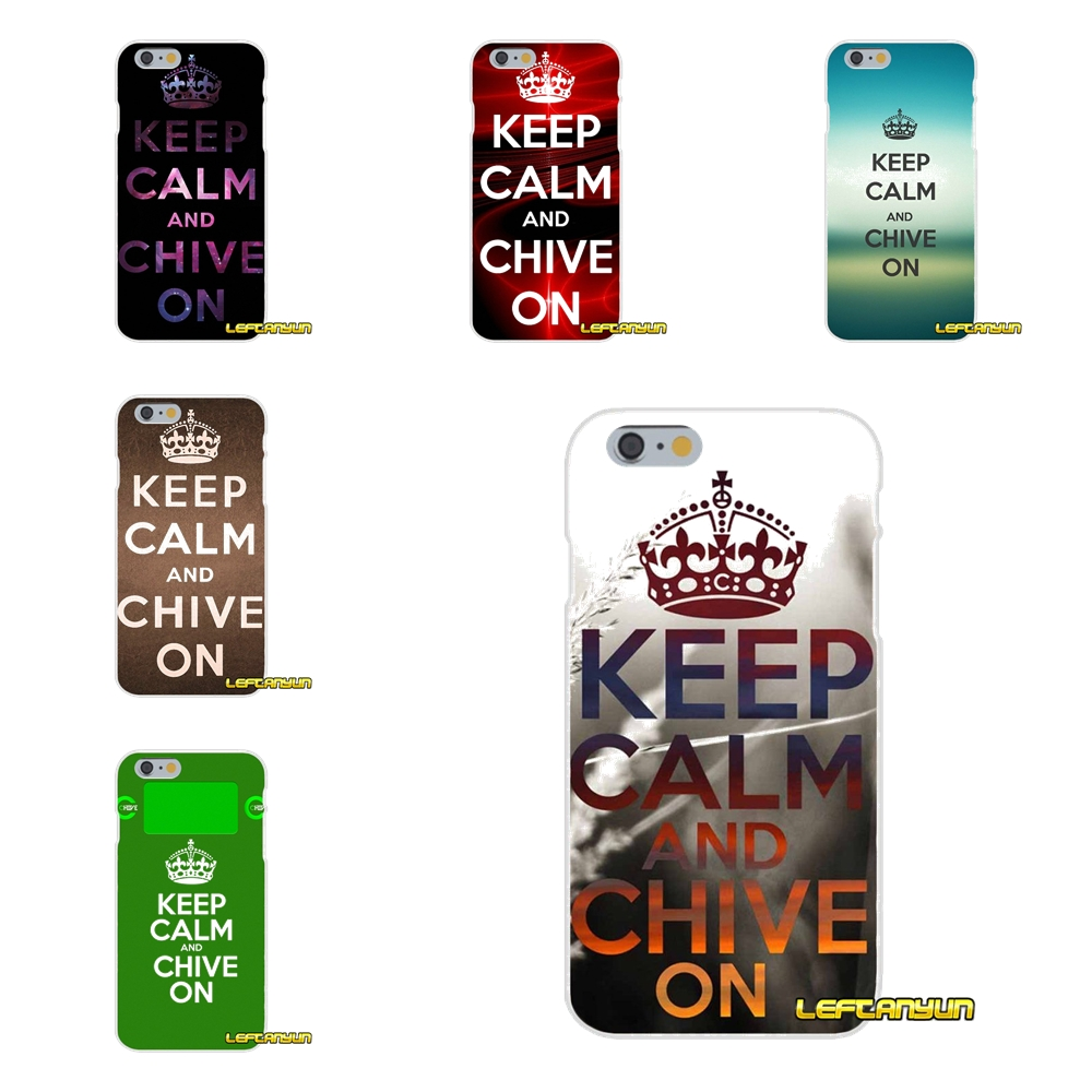 Keep Calm and Chive On Soft Silicone phone Case For Samsung Galaxy S3 S4 S5 MINI S6 S7 edge S8 Plus Note 2 3 4 5