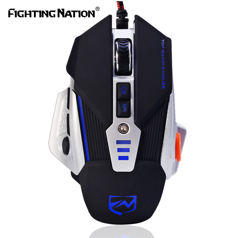 3500dpi Multi-Function USB Wired Optical Gaming Mouse LHTE Macro Programming Mechanical Mouse with Four-Light Matte Texture Gaming Mouse