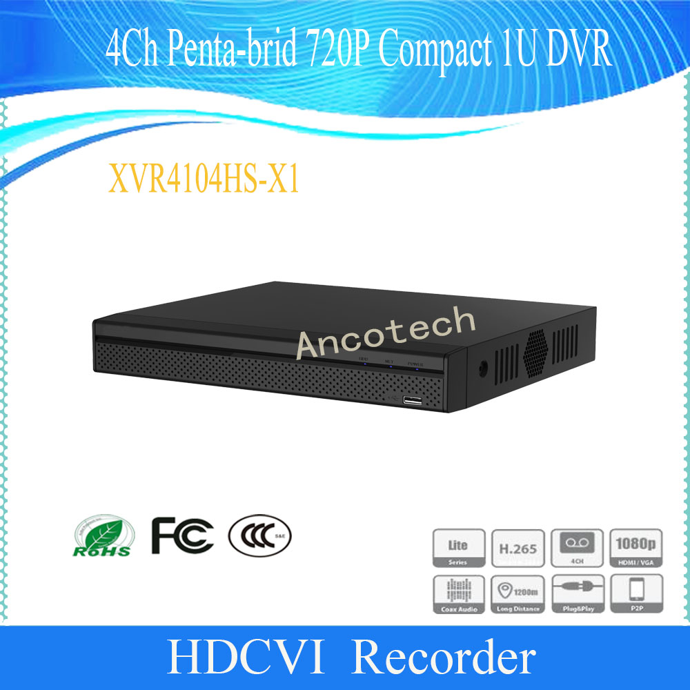 Dahua Original Surveillance CCTV 4Channel Digital Video Recorder Penta-brid 720P Compact 1U DVR DH-XVR4104HS-X1Dahua Original Surveillance CCTV 4Channel Digital Video Recorder Penta-brid 720P Compact 1U DVR DH-XVR4104HS-X1