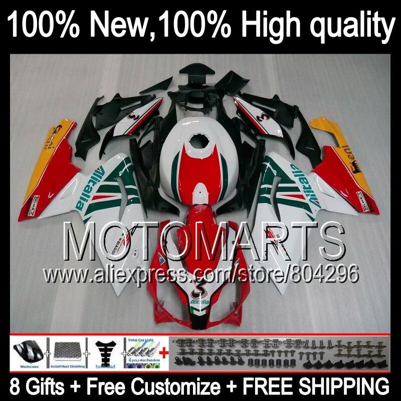 Bodys Rouge blanc Pour Aprilia RS4 125 RS125 06-11 RS 125 6JK4 RSV125 06 07 08 Rouge noir 09 10 11 2006 2008 2009 2010 2011 carénage