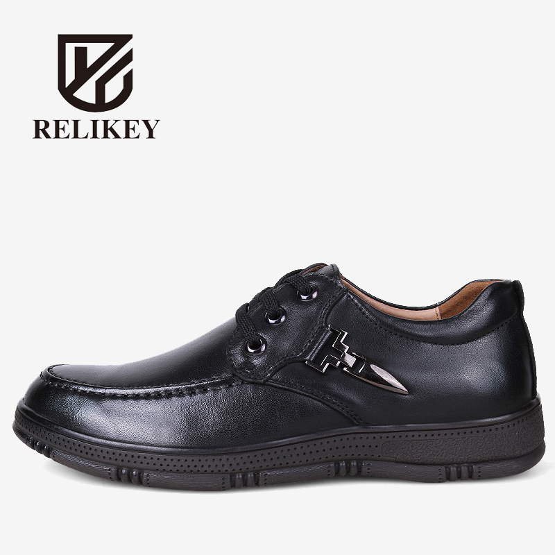 RELIKEY Brand Men Boots High Quality Handmade Genuine Leather Men Casual Shoes,Fashion Winter Boots Work Shoes For Men Soft. top brand high quality genuine leather casual men shoes cow suede comfortable loafers soft breathable shoes men flats warm