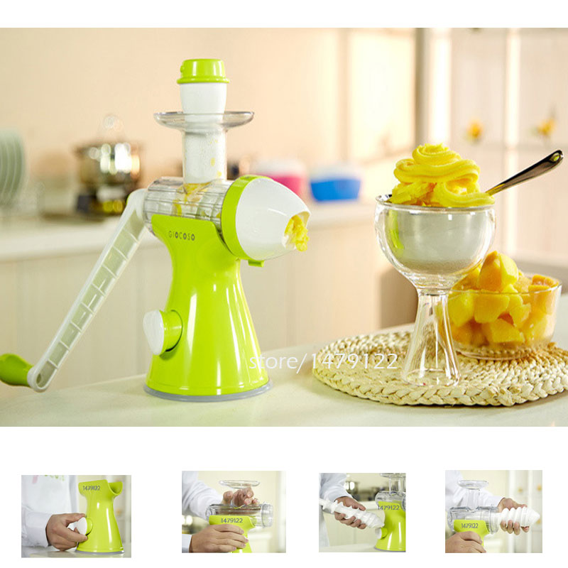 New one machine dual use Manual juice extractor for children fruit ice cream machine juicer ice cream maker