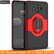 for Huawei Mate 10 Ring Case Magnetic Car Air Vent Holder iPaky Mate 10 Holder Luxury Kickstand Case for Huawei Mate 10 Pro Case(China)