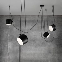 Modern Balck Pendant Lamps Ceiling LED Hanglamps Spider Industrial Pendant Lights for Diving room Restaurants Kitchen Fixtures