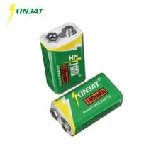 KINBAT 2pcs/lot 9V 160mAh 6F22 Ni-MH Rechargeable Battery 9 Volt NIMH Batteries For Electronic Instrument Multimeter Alarm Toys