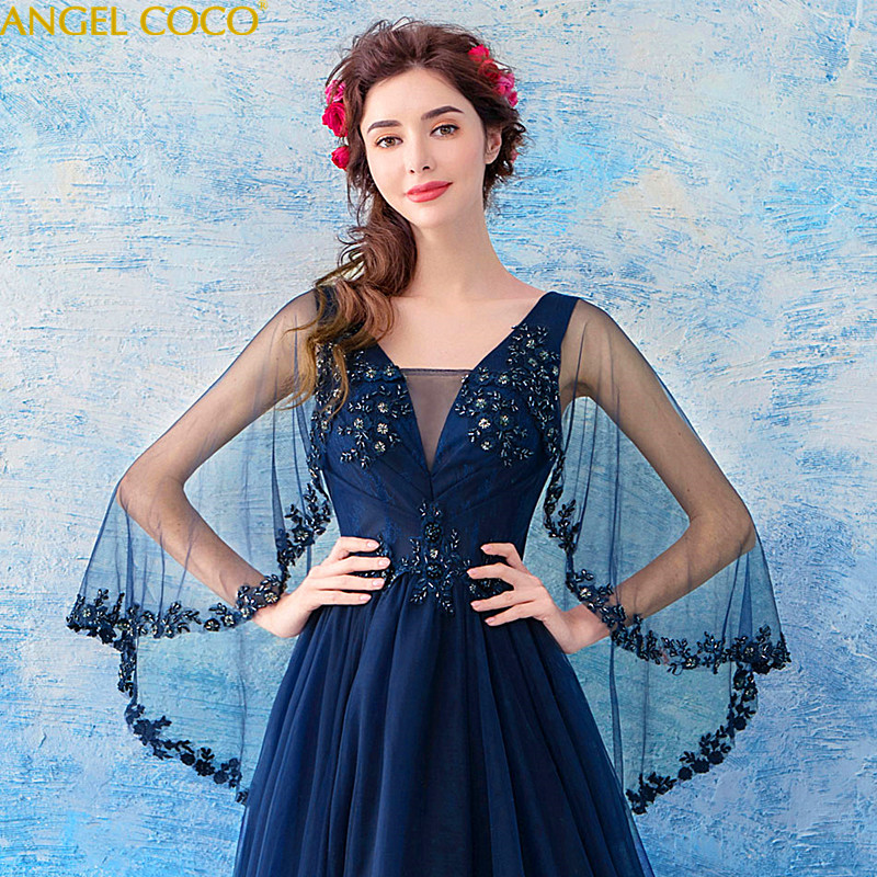 Navy Blue 2018 Women Dress Maternity Photography Props Lace Pregnancy Clothes Maternity Dresses For Pregnant Photo Shoot Cloth