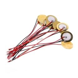 10 Uds. Piezoeléctrico piezoeléctrico placa de cerámica oblea diámetro 15mm para altavoz del timbre venta al por mayor y envío directo