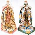 De CALIDAD SUPERIOR!!! patrón de la cadena de moda de Mujer de Marca Bufanda de Seda de la Gasa de la vendimia mujeres de gran facecloth cuadrada bufanda del cabo