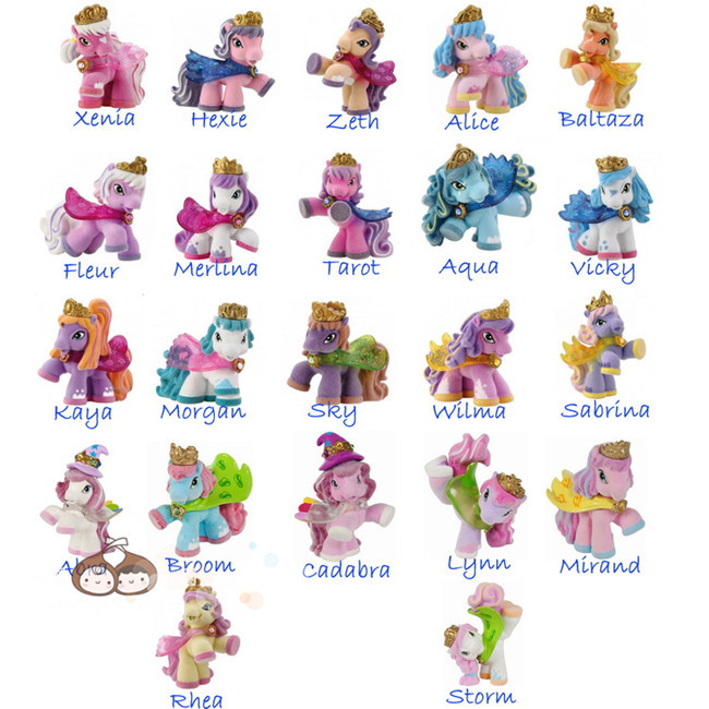O для U оригинальный Filly Witchy серии конек куклы стекаются Filly лошадей Коллекция действие куклы 5-6 см 5/10/15/20 шт. игрушка ...