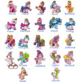 O for U Original Filly Witchy Series Little Horse Dolls Flocking Filly Horses Collection Action Doll 5-6CM 5/10/15/20Pcs Toy