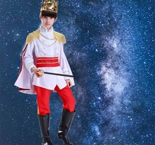 Fantasia Boys Kids  King Prince Costume Halloween Cosplay Birthday Gift Fancy Dress For Men Plus Size