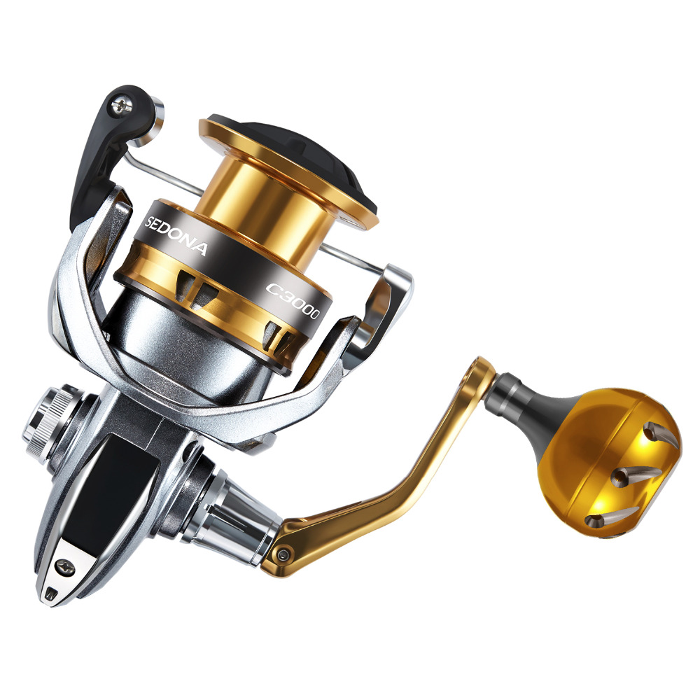 Shimano SEDONA FI Spinning Reel with Extra Handle Knob 5.0:1/6.2:1 Gear Ratio 3+1BB Hagane Gear G Free Body Fishing Reel-in Fishing Reels from Sports & Entertainment    2