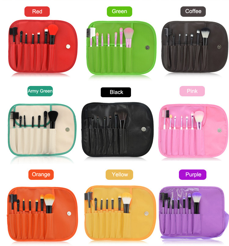 Makeup For You 7PCS Makeup Brush Set Makeup Brushes for Starters Including a Deluxe Carrying Case 9 Colors! storyfun for starters mov and flyers2ed flyers2 sb