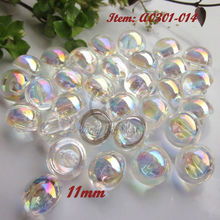 Acrylic buttons 60pcs 11mm / 10mm White Transparent AB color acrylic mushroom buttons imitation crystal buttons