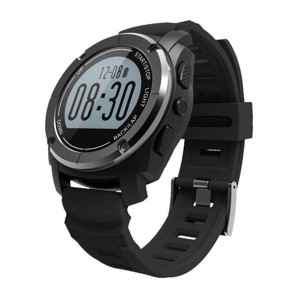 цена Smartch S928 Bluetooth Smart Watch,GPS Support,Heart Rate Monitor,Sport Watch for Walk/Run/Climb/Ride,Pedometer Silica Strap