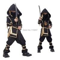 Hot Fantasia Martial Ninja Grim Reaper Halloween Cosplay Costume Children Warrior Costumes Stage Suit Boy Kids