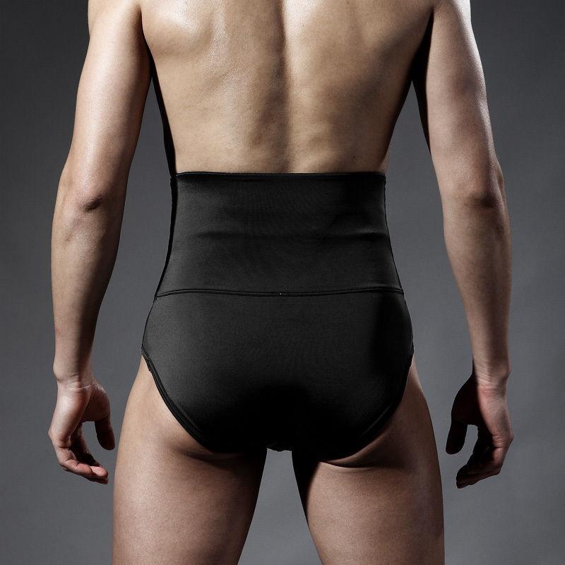 Mens Underwear High Waist Body Shaper Slimming Fit Tummy Control Waist Trainer Tight Pants Shapewear Hot Bottom Bandage Panties (3)