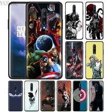 Winter soldier Superhero Phone Case for Oneplus 7 7Pro 6 6T Oneplus 7 Pro 6T Black Silicone Soft Case Cover