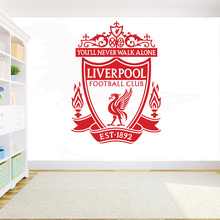 Europe Football League club Logo wall sticker Englands top vinyl decal kids room bedroom home decoration D13