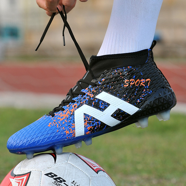 best website 1a2b9 f1111 US $24.69 5% OFF|Men Soccer Shoes Sport Women Long Spikes ACE X 16 Youth  Kids Superfly Cleats Football High Ankle Boots FG 2018 Plus Large Size-in  ...