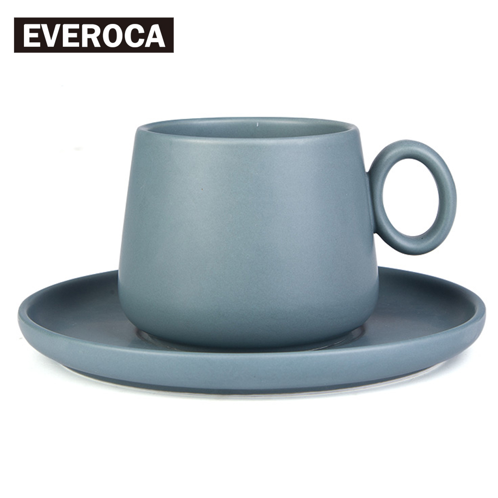 4 color available simple matte set ceramic coffee stoneware milk cup porcelain dishchina - Stoneware Dishes