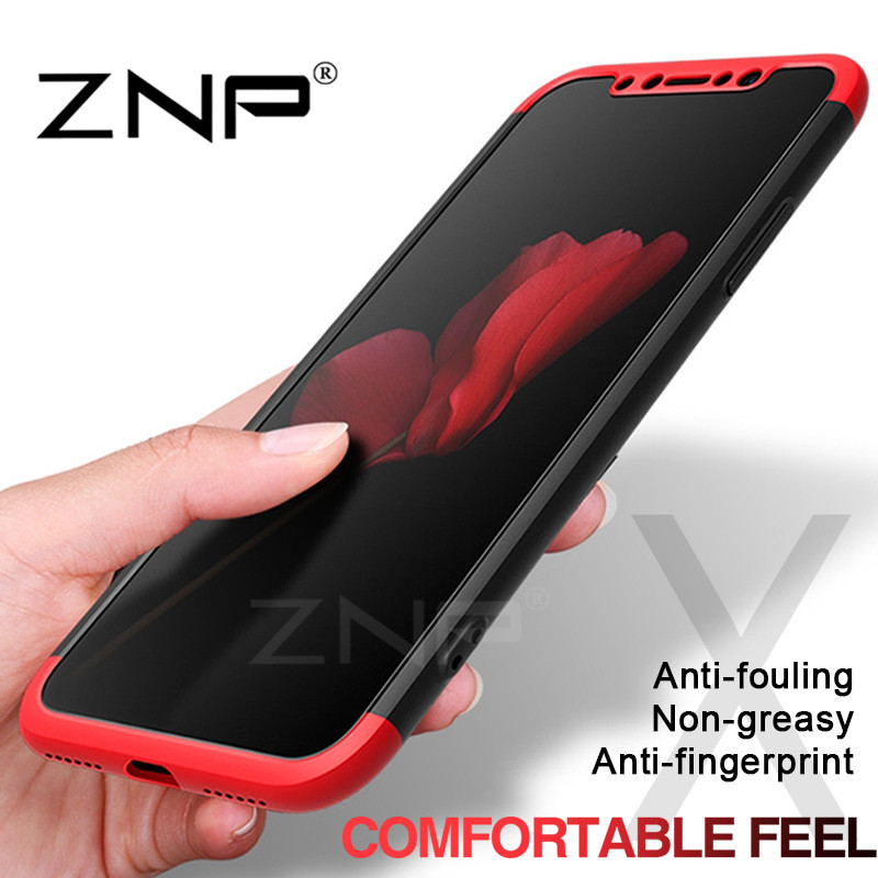 ZNP Luxury Degree Protective Cases For iphone X Case Full Cover Phone