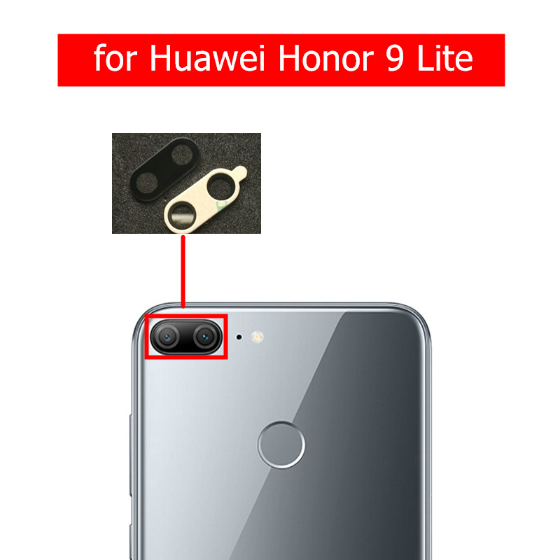 2pcs For Huawei Honor 9 Lite Camera Glass Lens Back Rear Camera Glass Lens With Glue Honor9 Youth Replacement Repair Spare Parts