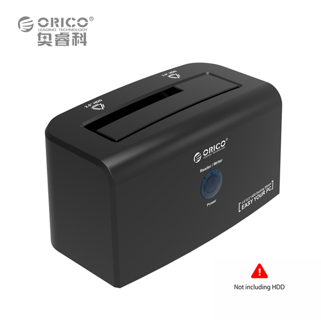 "ORICO Docking Station 2.5 inch & 3.5 inch eSATA & USB 3.0 Hard Drive Docking for 3.5"" HDD 12V Power Adapter"