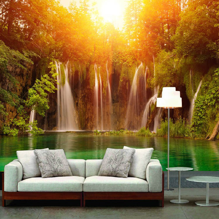 Aliexpresscom Buy Custom Large murals dusk scenery for living