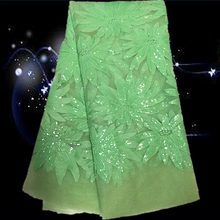 Item No.SSN20  pretty paterrn high quality african tulle lace fabric with sequins for wedding  free shipping by DHL