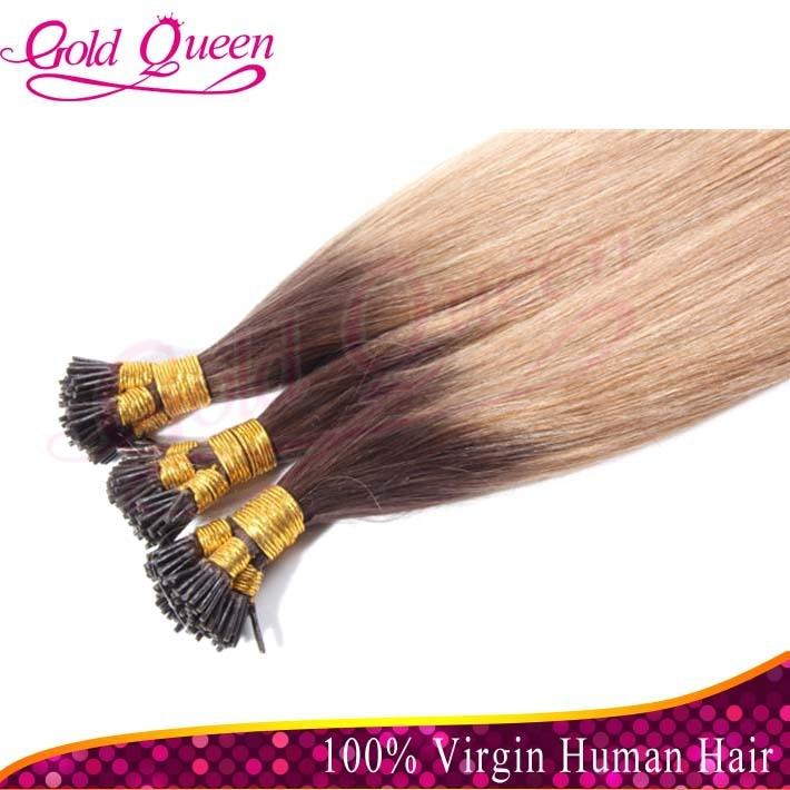 1bt10 Ombre I Tip Hair Extensions Brazilian Virgin Straight I Tip