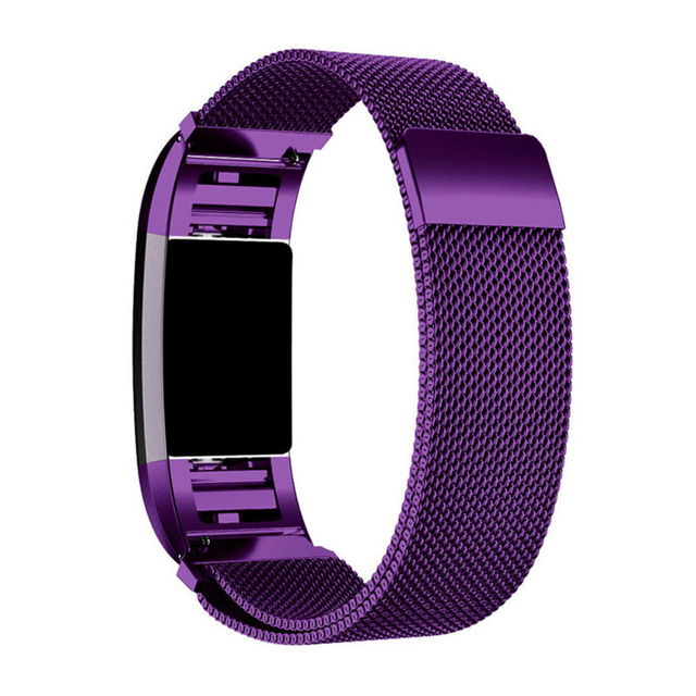 US $8 23 26% OFF|Metal Stainless Steel Magnetic Milanese Flex Mesh  Waterproof Breathable Wristband for Fitbit Charge 2 band small large-in  Smart