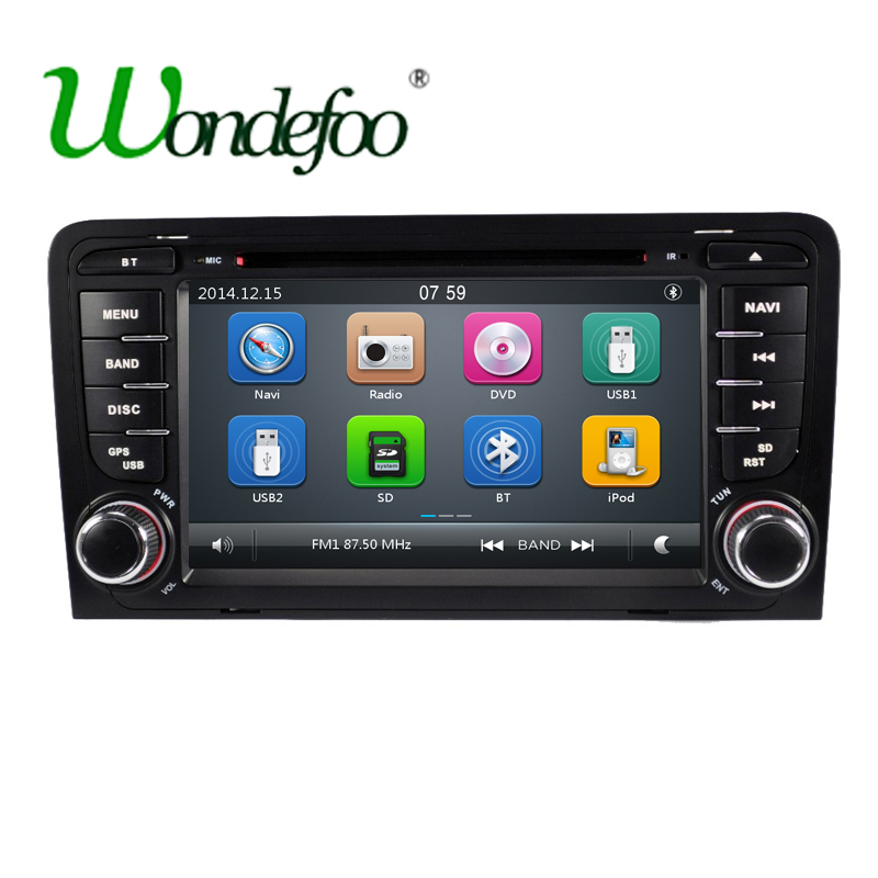 2 din car dvd player for audi a3 s3 with radio dvd gps for Mueble 2 din audi a3