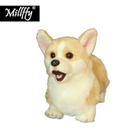Dropshipping New Arrival Realistic Plush Welsh Corgi Pembroke Lifelike Stuffed Animal Soft Toy Dog Doll for Children