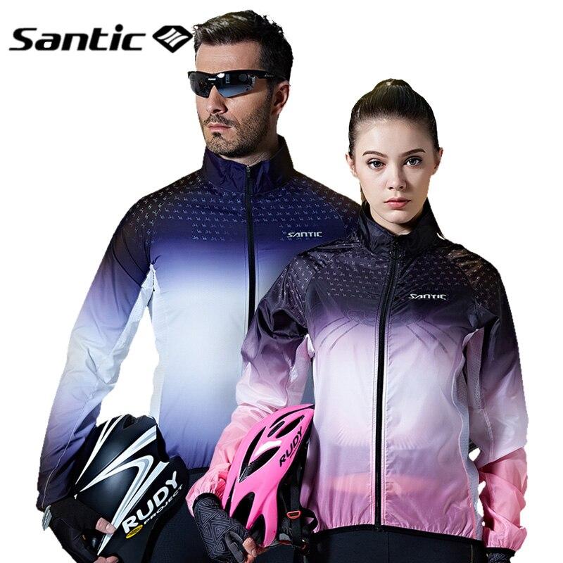 Santic hommes femmes cyclisme vestes coupe-vent manches longues vtt vélo veste imperméable soleil protection UPF40 + cyclisme pluie vêtements