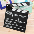 Wood 20x20x1.5cm Director Video Scene Clapperboard TV Movie Clapper Board Professional Film Slate Cut Prop