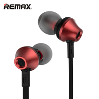 Remax Stereo Music In-ear Metal Earphones Super Clear Noise Isolating Earphone with Mic earbuds for Mobile Phone RM-610D