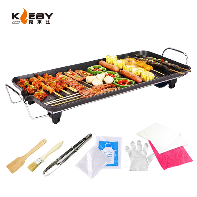 6-10 Person Large Size Electric Grill & Griddle Home Smokeless Barbecue BBQ Meat Dish Baking Machine Kitchen Useful Multicooker