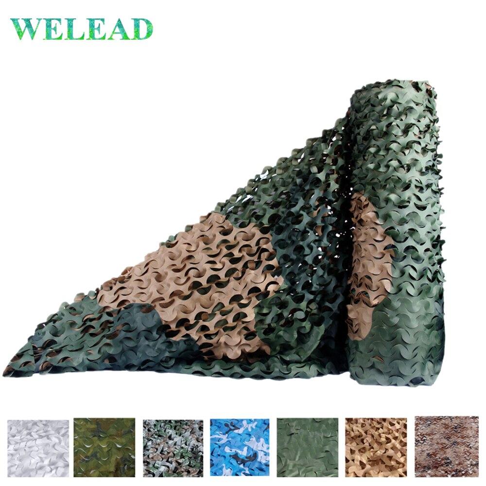WELEAD 1.5 m x 9 m Simple filet militaire Camouflage filets pour la chasse auvent pour voiture plage Pergola abri soleil armée Camo filet bâche