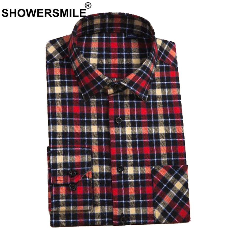 8afbf31f20246 Features  Mens Long Sleeve Shirt   Red Checkered Shirt   Big Size Mens  Clothes