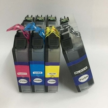 For Brother LC123 lc121 Ink Cartridge For Brother DCP-J4110DW DCP-J552DW DCP-J752DW MFC-J4410DW MFC-J4510DW MFC-4610DW J4710DW 1 set refillable ink catridge for brother lc161 lc 161 for brother dcp j152w j752dw mfc j245 470dw 650dw j870dw with newest arc