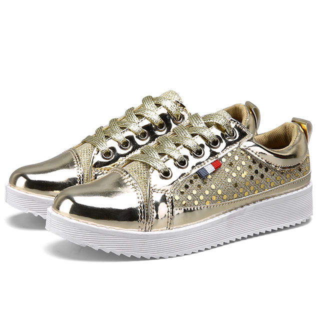 Size 35-40 brand New Chaussure Femme rubber 2016 Women casual shoes Gold Silver mesh woman breathable fashion sport summer shoes