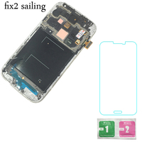 New Super AMOLED LCD Display 100 Tested Working Touch Screen Assembly Frame For Samsung Galaxy S4