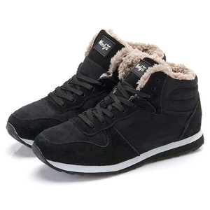 Image 2 - 女性女性の冬の靴女性のプラスサイズ 46 女性のためのウォームアンクルブーツ雪bota ş mujer冬のブーツの靴女性カジュアル