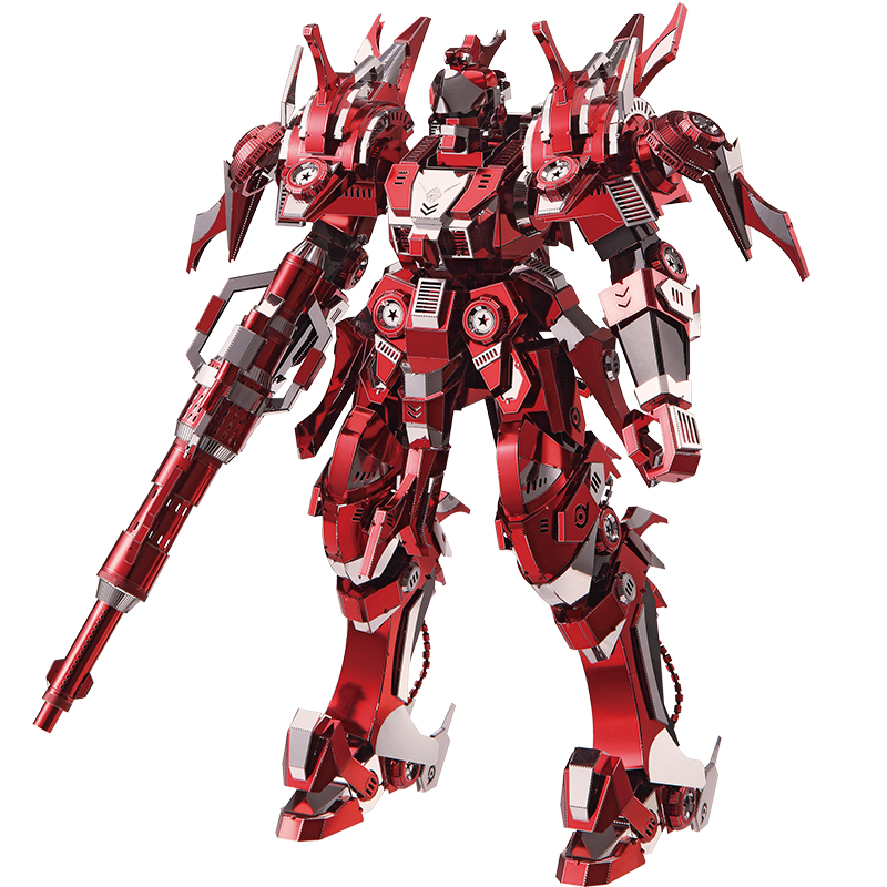 3D Metal Nano Puzzle Red Thunder Edition Model Kits P085-RSK DIY Laser Cut Assemble Jigsaw Collection Toys Gifts For Kids Adult blue magnetic rotation p093 bsk piececool 3d laser cutting jigsaw puzzle diy metal model nano puzzle toys for audlt