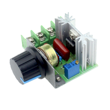 Free shipping 220V 2000W Speed Controller SCR Voltage Regulator Dimming Dimmers Thermostat(China (Mainland))