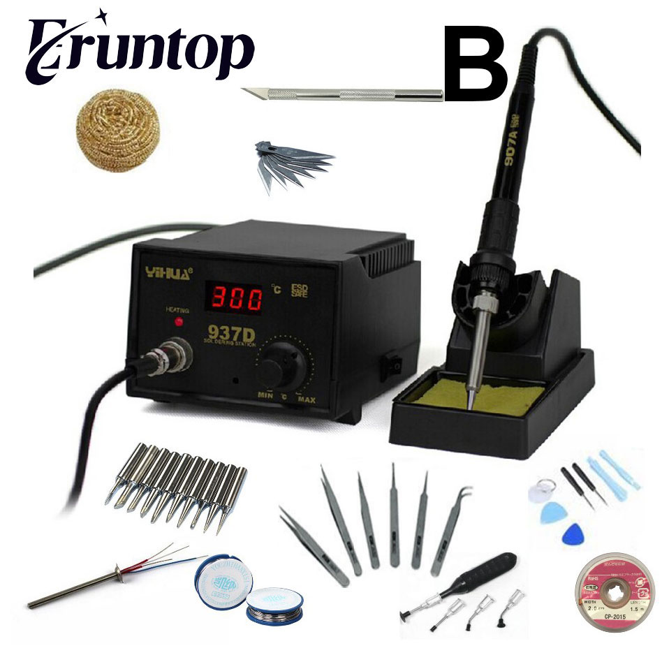 High quality 110V/220V 45W YIHUA 937D Eruntop 936 Constant Temperature Antistatic Soldering Station Solder Iron yihua 862d 750w constant temperature antistatic soldering station solder iron heat air gun