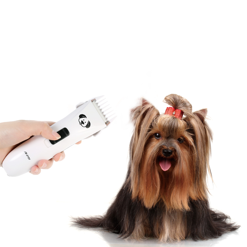Professional Cat Dog Hair Trimmer Rechargeable Electric Hairdressing Tool for Pet Dog Adjustable Speed Dog Grooming AC100 240V