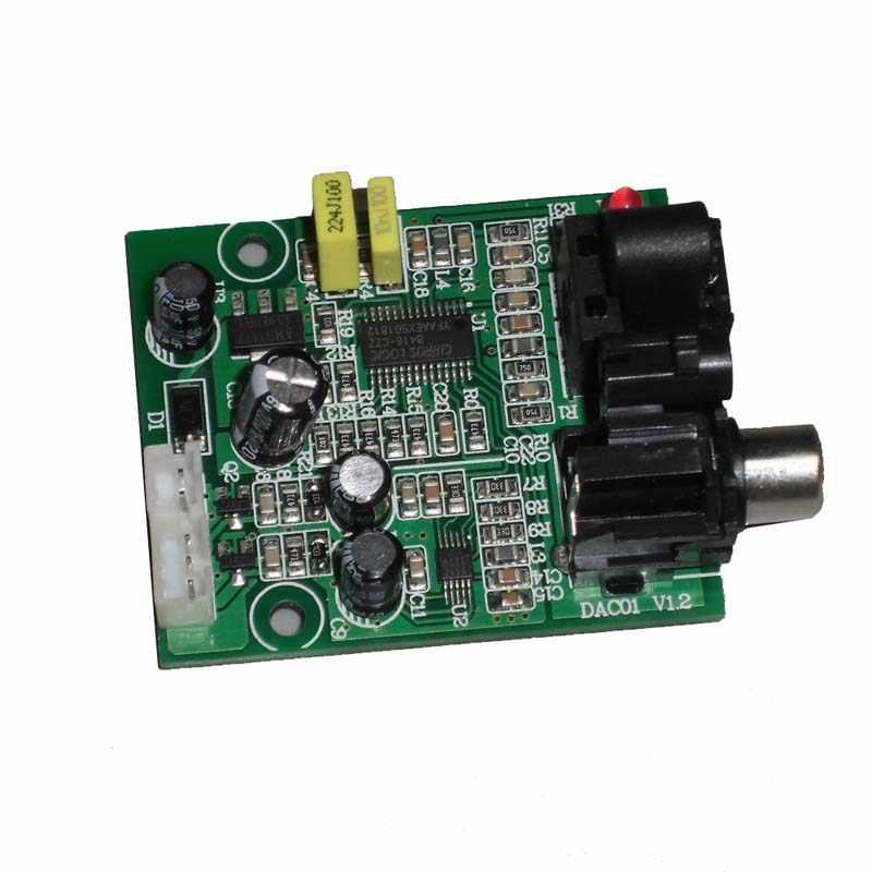 CS8416 CS4344 デジタルインタフェースモジュール DAC ボード 24 ビット 192 18K 光ファイバ同軸入力 3.5 ミリメートルステレオオーディオ出力 A5-009