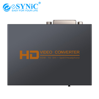 eSYNiC 1.3 HDMI To DVI Audio Converter 5.1CH/2.0CH Optical TOSLINK SPDIF 3.5mm Headphone Digital To Analog Video Adapter